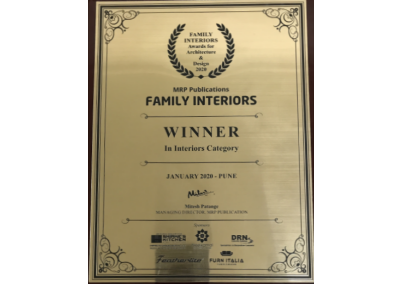Family Interiors Winner, 2020