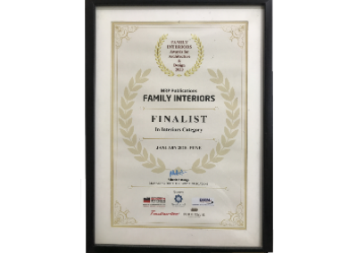 Family Interiors Finalist, 2020